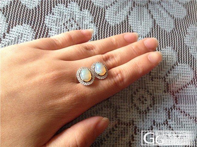 海蓝宝戒指,欧泊耳钉,紫牙乌项链,白水晶簇_宝石