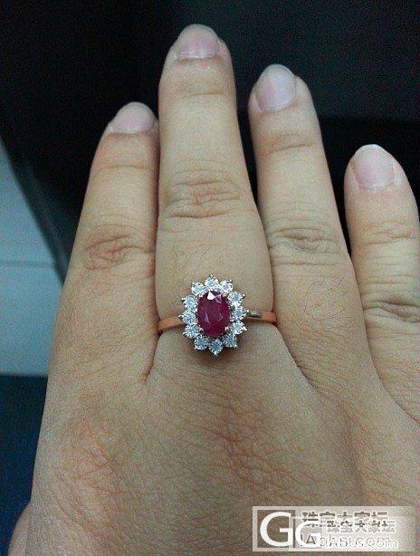 大家帮我看看这个红宝石戒指怎么样_刻面宝石红宝石