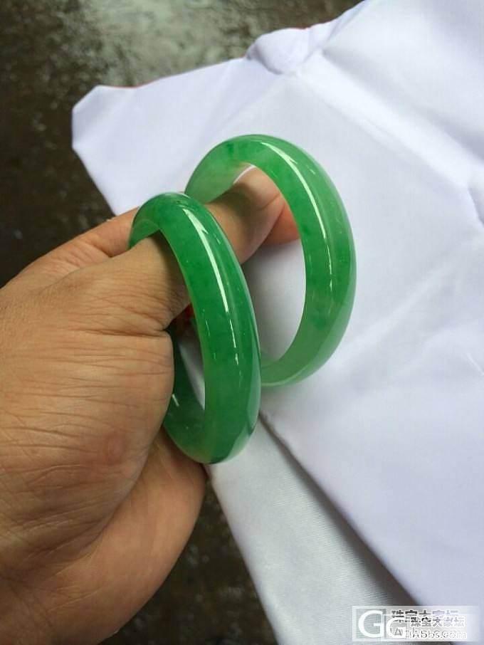 [纯粹显摆]翠色撩人——收藏级绿镯一..._翡翠