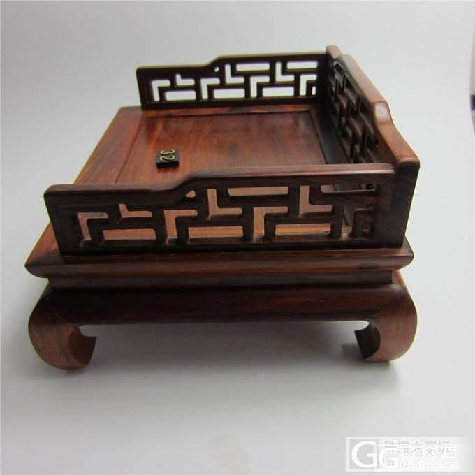 老红木罗汉床摆件--北方榫卯工艺--..._珠宝