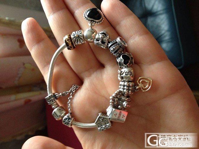 新到潘多拉的珠子及整体效果_手链银
