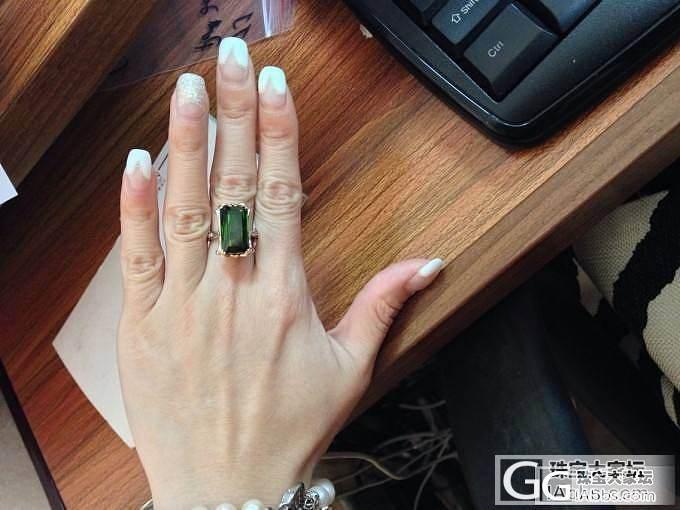绿碧玺戒指也很不错~_珠宝