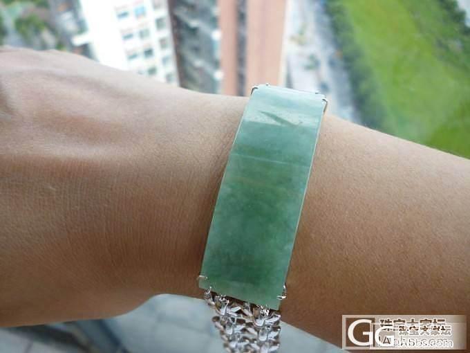 冰种淡绿925纯银手链带证书_翡翠