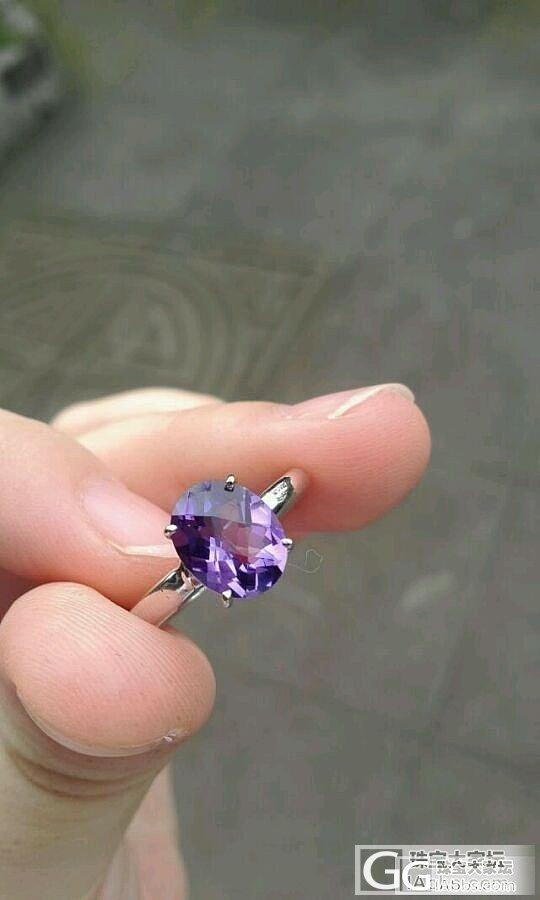 秀秀我的紫水晶戒指,喜欢的点个赞哦~_水晶