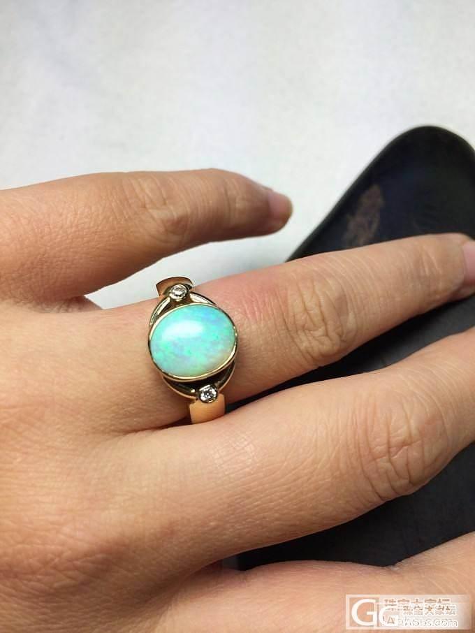 欧泊(澳洲)1.97克拉钻石黄金戒指_博物馆
