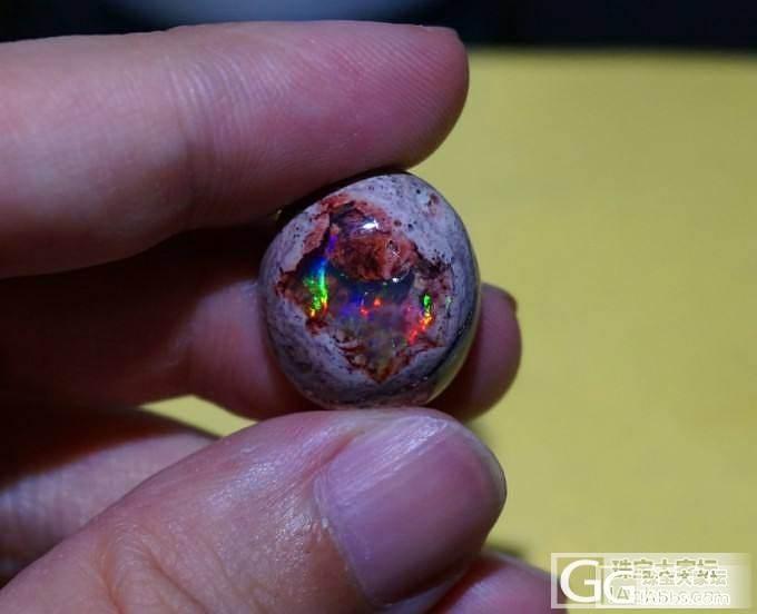 自己的新收藏,墨西哥围岩O(∩_∩)O~_欧泊刻面宝石