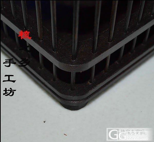 乌木 紫光檀蝈蝈笼(拉手纯铜配件、底板独板)90元_珠宝