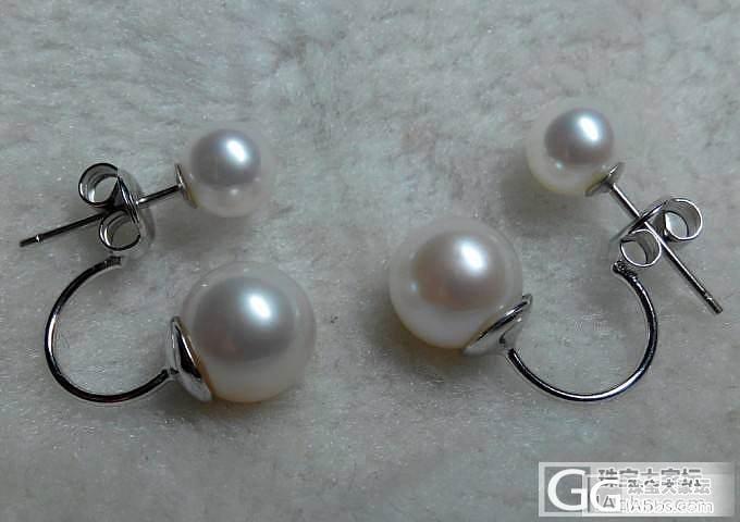 乔妹同款珍珠耳环。极亮好珍珠。_珠宝