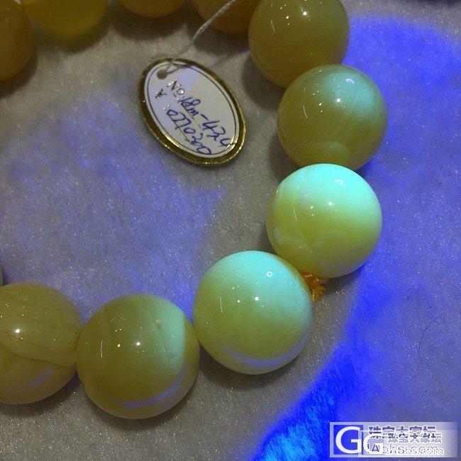 年前收的几串大蜜蜡珠子手串。有喜欢的..._有机宝石