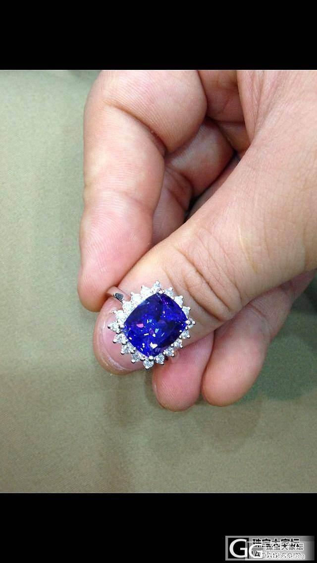 新人报道,新镶嵌的坦桑,和大家分享,刚刚还发错版面了_坦桑石刻面宝石