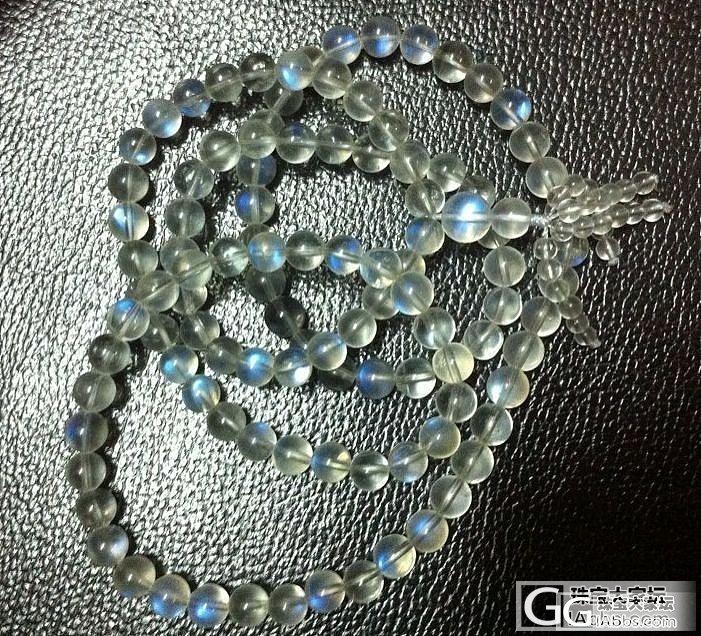 谷谷分享 顶级冰种玻璃蓝月光佛珠 魔..._宝石