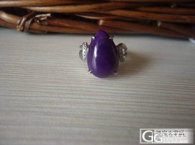 皇家紫舒俱莱戒指,无纹无裂_宝石