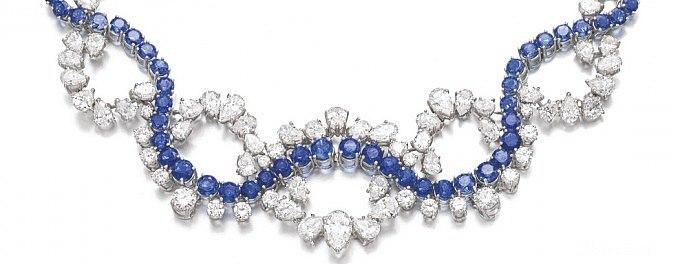 給女朋友買了這麽一串東西_蓝宝石古董首饰