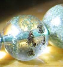 转8mm的 绿幽灵聚宝盆手链    增加了幽灵的红皮细节照_宝石