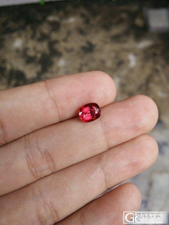 论坛里尖晶那么火,给大家看一个2.15卡的吧。_尖晶石刻面宝石