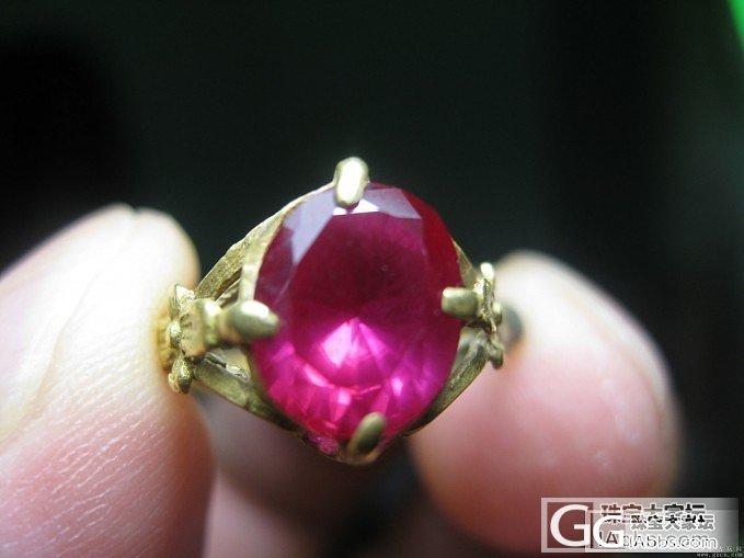 民国的Ruby ring,不必称鸽血..._人造宝石琳琅满目刻面宝石