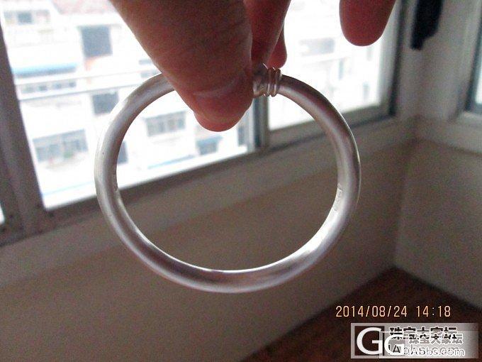 焕然一新的圆条圆蒜头_手镯银