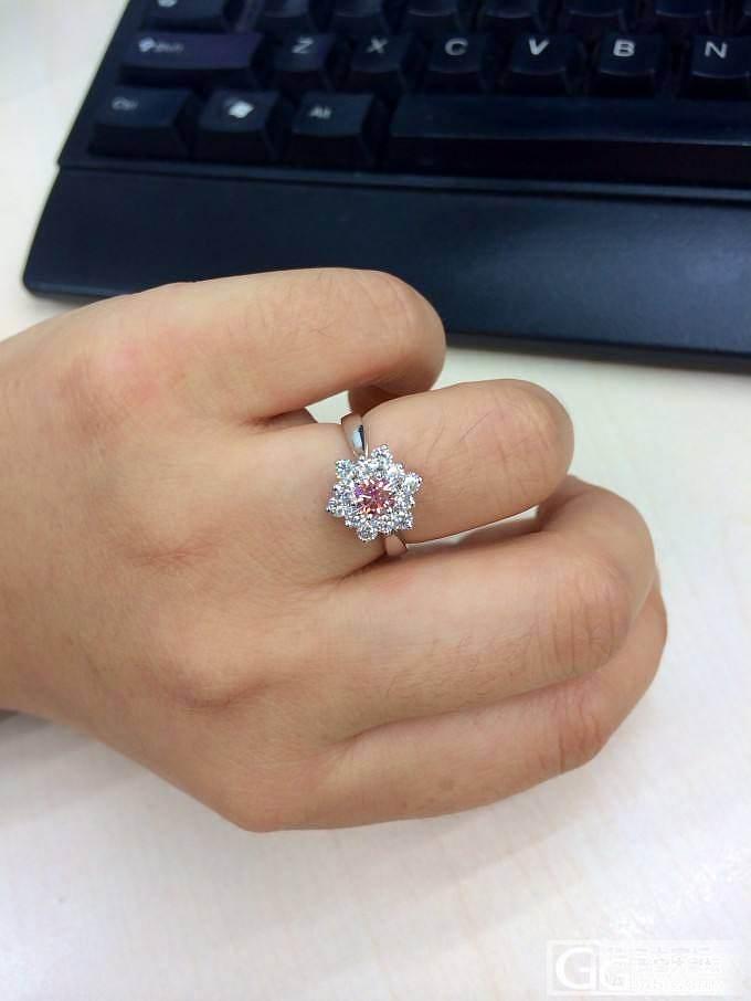 回归啦 俺的第一颗粉钻!_钻石