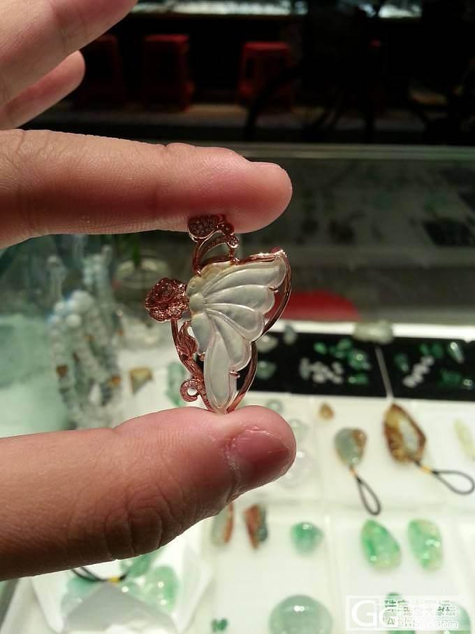 亲亲翡翠珠宝新货上架 天然A货平安扣 镶件蝴蝶 双龙牌_珠宝