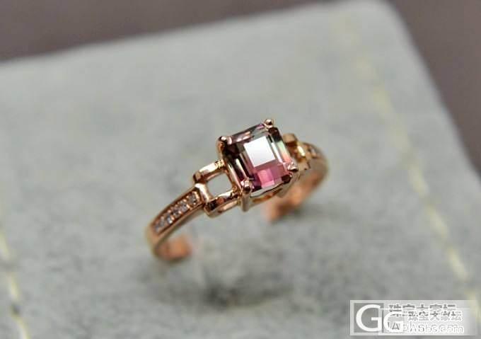 刚收来的碧玺戒指,不错,顺便给大家看看。_碧玺