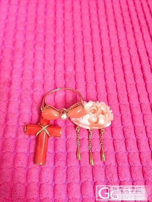 鑫艺家做的几个珊瑚戒指和吊坠还图_鑫艺首饰镶嵌