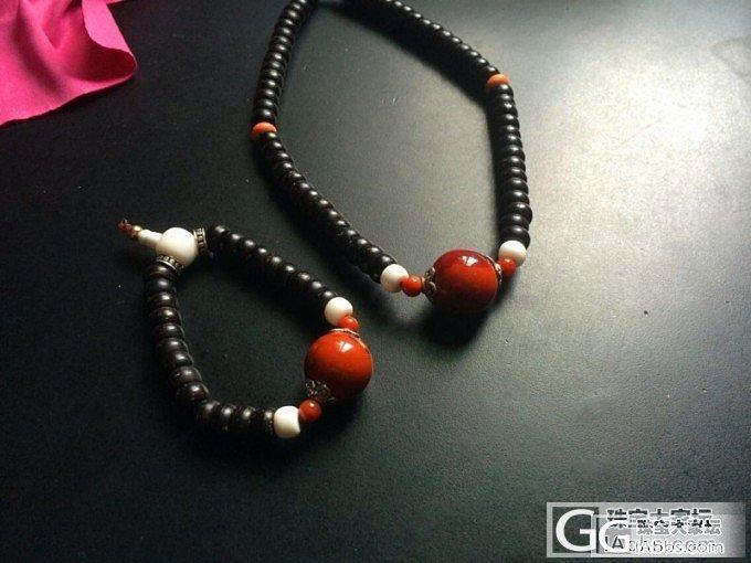 南红颈链,手链。。_南红