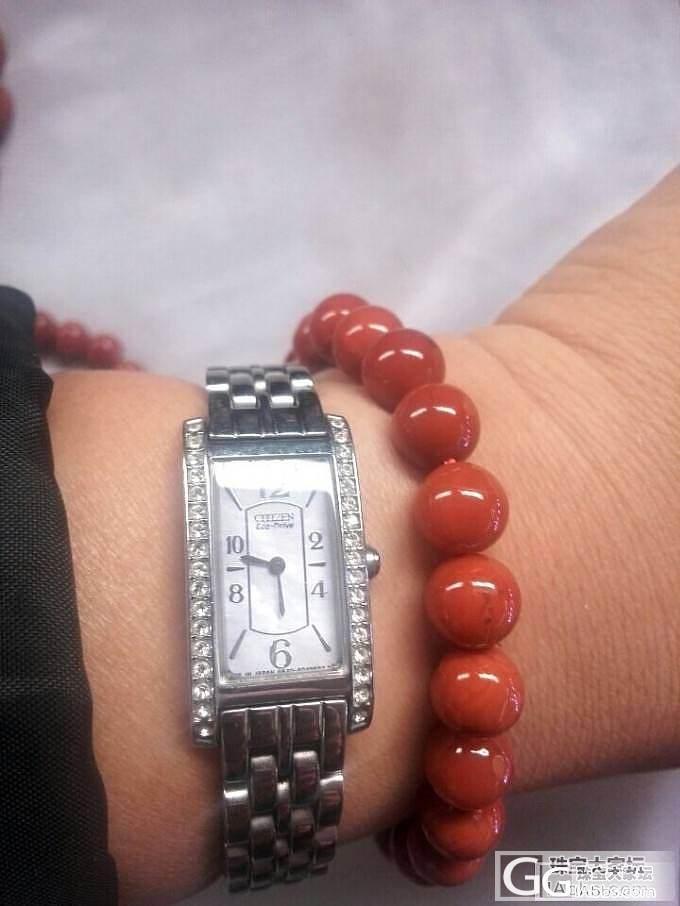 发2串给朋友订的2条手串 红艳艳的 欣赏图_珠宝
