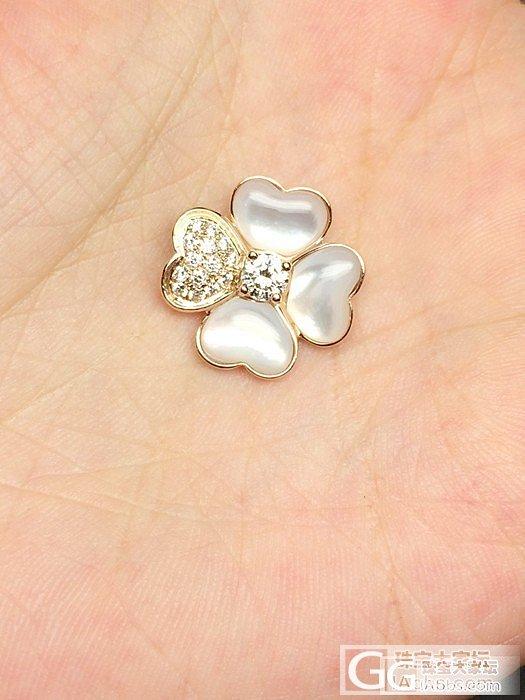 【Mgems微信mikiqiu】客户定制VCA flower系列钻石母贝18K玫..._博物馆