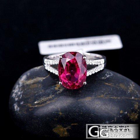 超美的紫红红宝大碧玺秒杀,美的心动。_珠宝