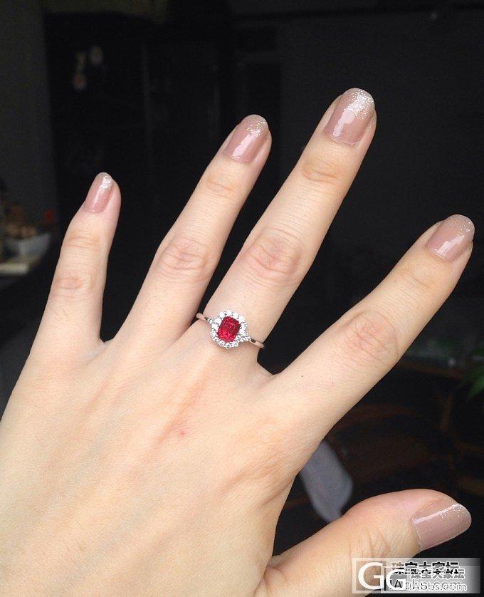 酱油好的小红戒指回来啦~顺便请教一下..._尖晶石刻面宝石