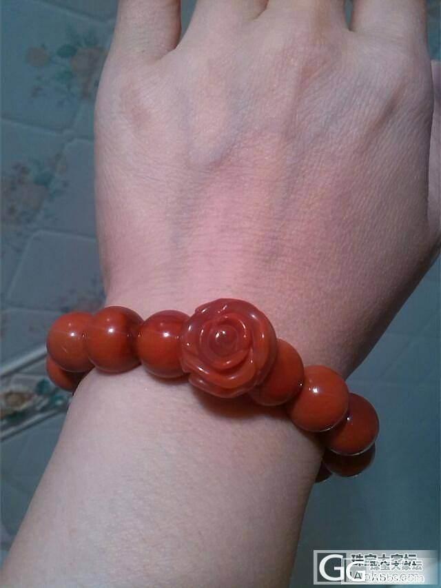 满肉柿子红手串,玫瑰花,新宠_珠串南红