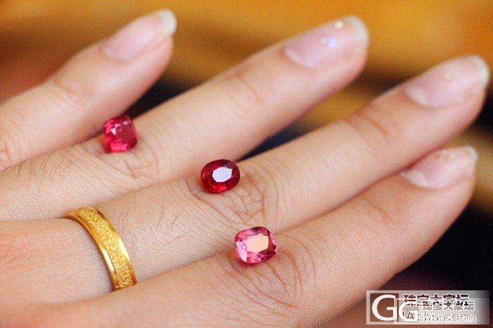 三颗尖晶石~从粉到红~_尖晶石刻面宝石