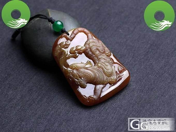【翠丰珠宝】极品红翡吊坠--蝎子招财、龙马精神、虎虎生威_翡翠
