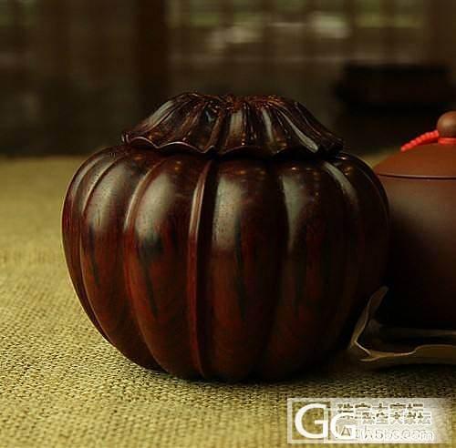 【稀饭香铺】可爱 小叶紫檀火焰纹南瓜收纳盒_珠宝
