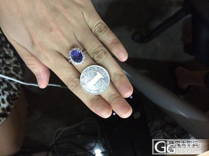 小白请教大神,这两颗坦桑石,这价格,..._坦桑石刻面宝石