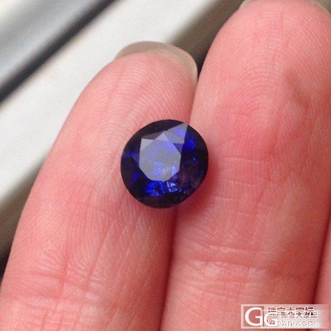3ct皇家蓝 小脸也不都是好事_蓝宝石刻面宝石
