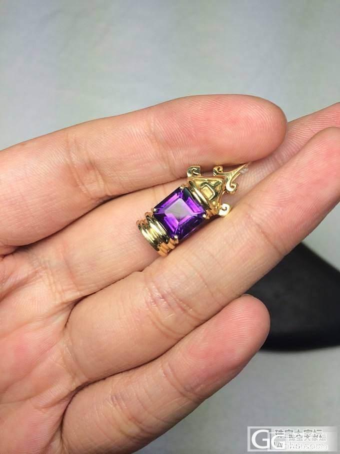 2.25克拉紫水晶18K黄金吊坠 独..._博物馆