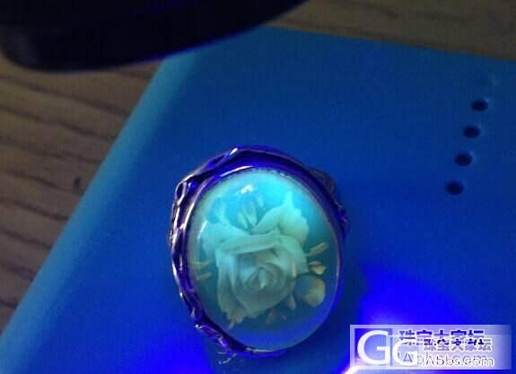 10月21号截团.蜜蜡阴雕玫瑰花戒指,金绞3-6mm挂绳108._珠宝