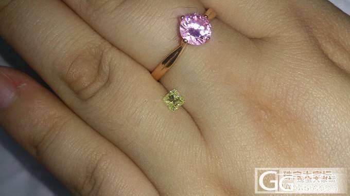 新买的咪咪小黄钻,有点纠结做什么款,..._钻石
