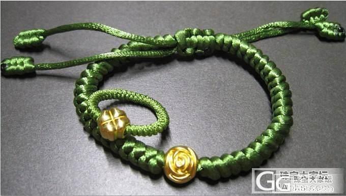 绿色系!戒指,手绳,玫瑰与四叶草的组..._编绳金福利社