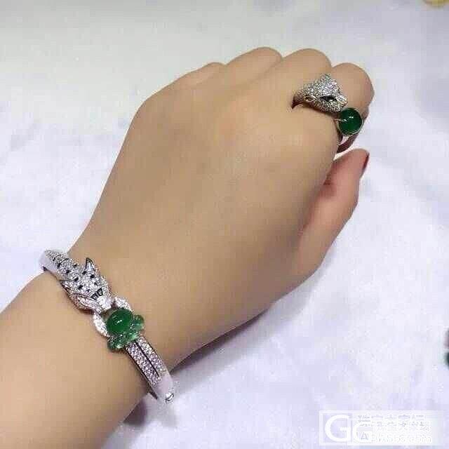全新卡地亚豹子头手镯+戒指,不要走宝了!_珠宝