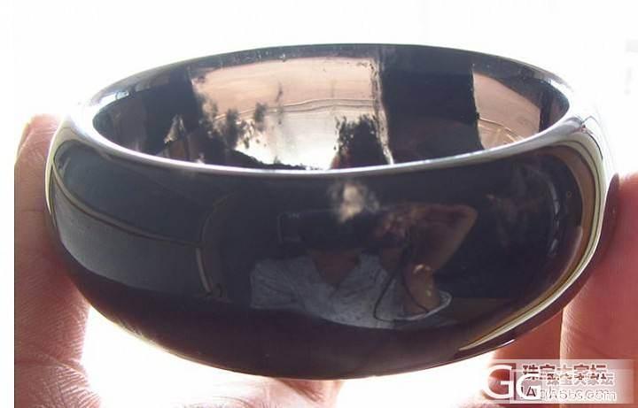 请大家帮忙鉴定一下:这手镯是黑水晶还是黑曜石?_水晶
