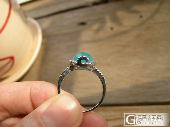 冰种天河石戒指   葡萄石+马粉四圈手链  有没有谁有兴趣的_宝石