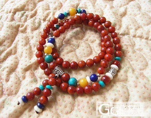 转两条南红手链,绕三圈的和单圈的,都是我自己DIY的……_传统玉石