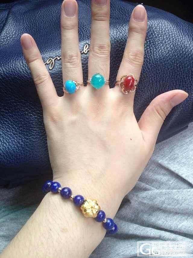 美国瓷松戒指刚回来,小蝴蝶呀小蝴蝶_松石