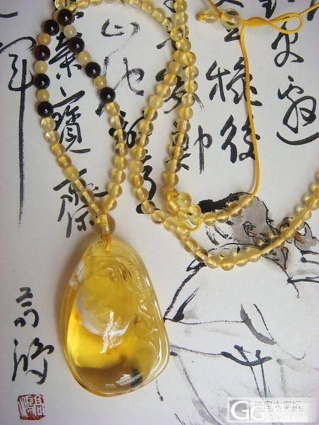 【琥珀屋】珍品 天然琥珀吊坠 正品蜜蜡吊坠 金珀花珀雕刻件 吊坠 带证书_有机宝石