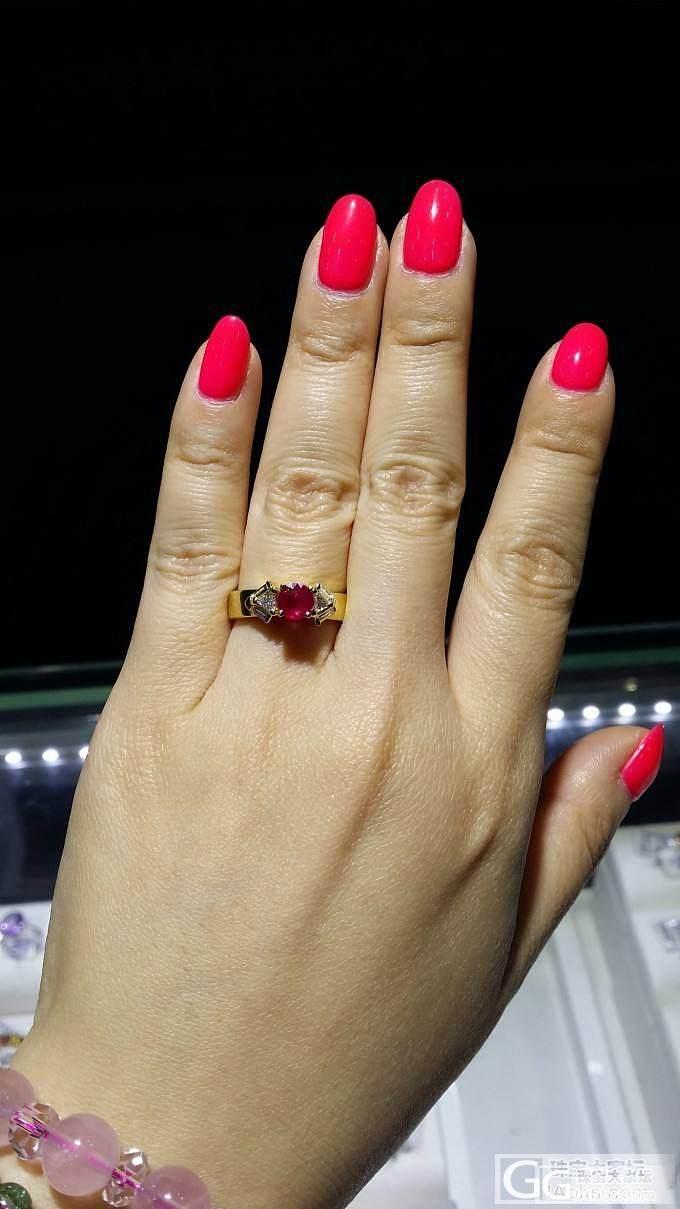 前两天看到这个,蛮喜欢这个镶嵌的,大..._戒指红宝石