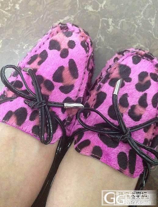 艳桃红豹纹马毛豆豆鞋,300包顺丰哇_品质生活