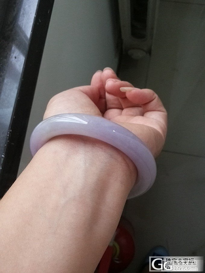 """大家帮我看下这个""""紫红""""圆条紫镯_翡翠"""