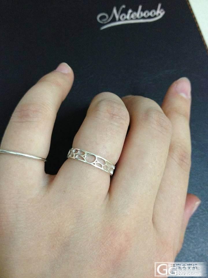 新作新作小戒指~我已经陷在小清新中不..._戒指银